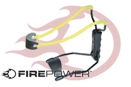 Firepower Folding Sling Shot Fires Paintballs or BB's
