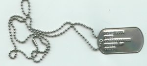 Dog Tag Single w/ Chain