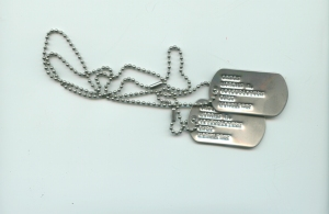 GI Dog Tags Double w/ Chain -Just like the military