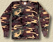 Camo T-Shirt 5XL Long Sleeve
