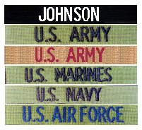 GI Custom Military Name Tapes